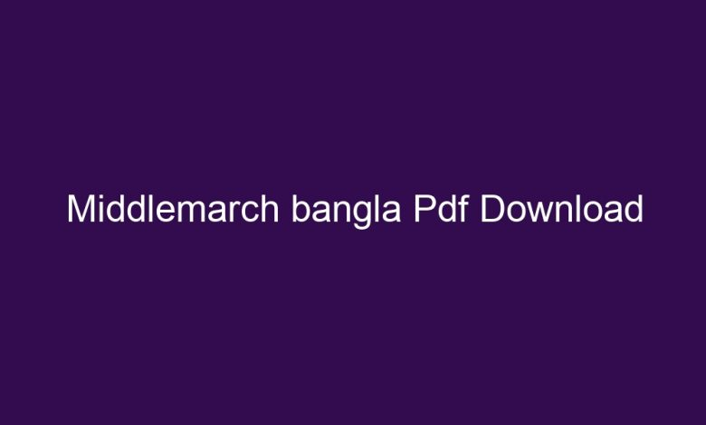 middlemarch bangla pdf download 4331