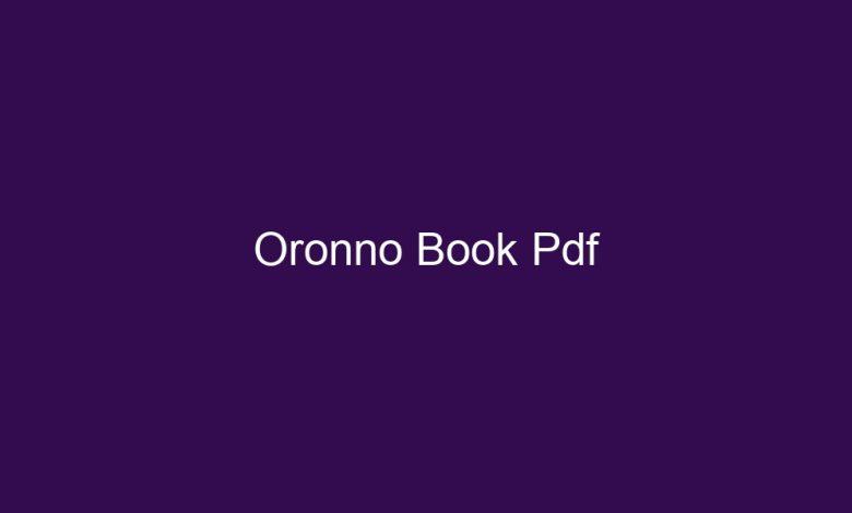 oronno book pdf 4604